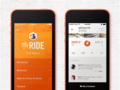 design inspiration iphone mobile design inspiration we ride iphone app design