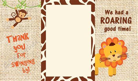 Safari Themed Thank You Cards thank you card jungle safari theme