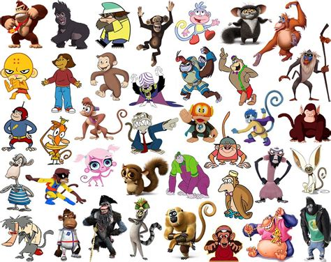 find  cartoon primates quiz