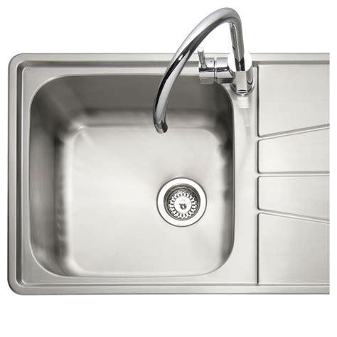 inset stainless steel kitchen sinks caple blaze 100 1 0 bowl inset kitchen sink sinks taps com