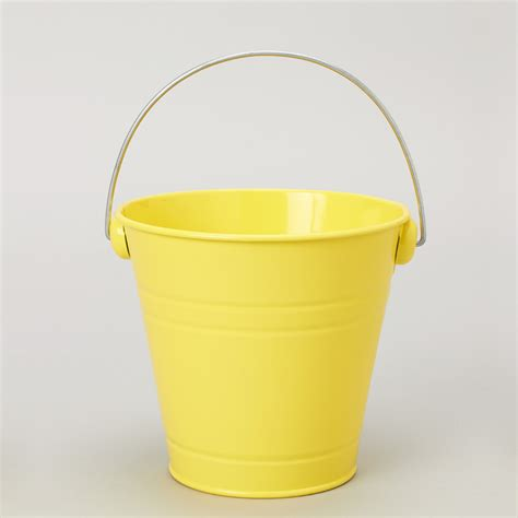 Yellow Pail Tin metal pail buckets portofino international