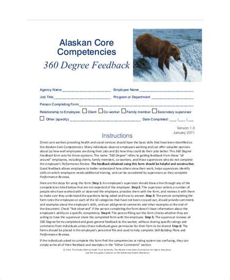 7 Sle 360 Degree Feedback Forms Sle Templates 360 Degree Feedback Form Template