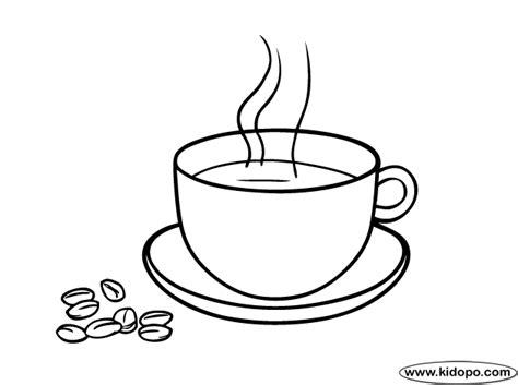 Coffee Cup Coloring Pages coffee coloring page