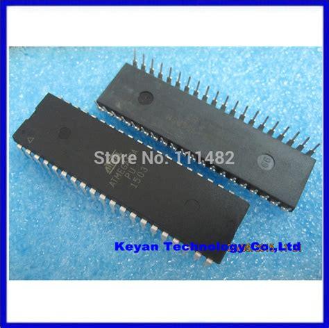 Ic Atmega16 Atmega 16a Pu Dip 40 2pcs new atmega16 atmega16a pu avr microcontroller dip40 in integrated circuits from