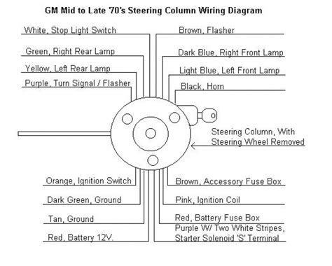gm steering column wiring schematic gm steering column