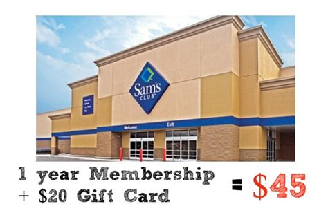 Sam S Club Best Buy Gift Card - groupon deal sam s club membership 20 gift card for 45 southern savers