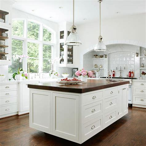 butcher block countertop island butcher block island countertop traditional kitchen bhg