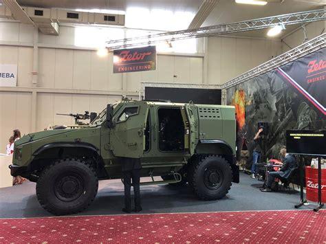 zetor engineering slovakia unveiled  prototype   gerlach  armored vehicle czech