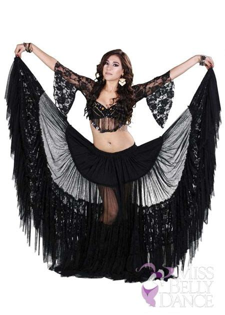 Scarf I19 belly tribal lace bra skirt and net scarf costume