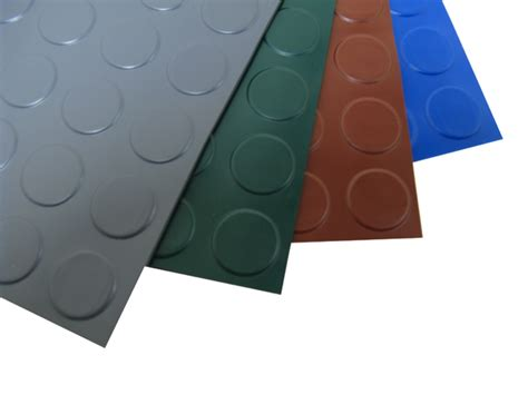 Large Rubber Mats For Garage Floors by Coin Pattern Garage Flooring And Coin Pattern Roll Out