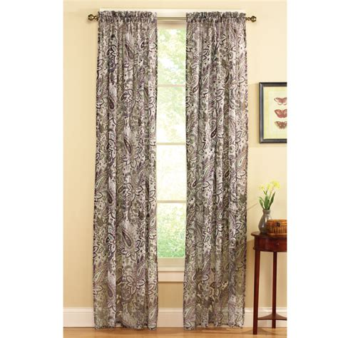 paisley sheer curtains sheer all over floral paisley pattern rod pocket window