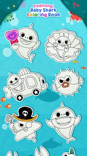 Shark Family Pinkfong Figurines pinkfong baby shark coloring book android apps on play