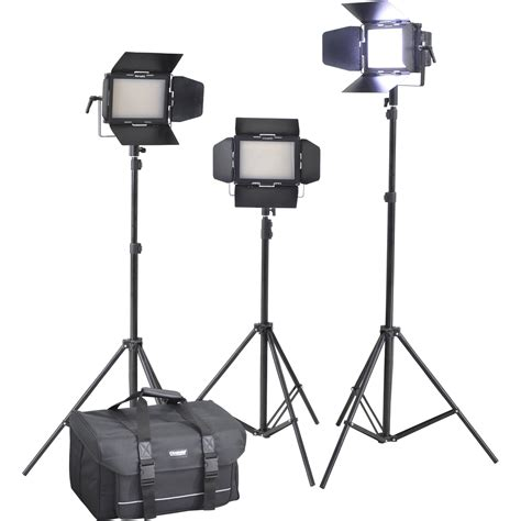 cineroid lm400 3setv professional led 3 light kit lm400 3setv