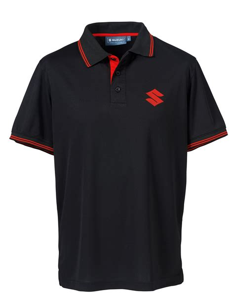 Suzuki Apparel Suzuki Team Mens Sleeve Polo Shirt Collared Pique