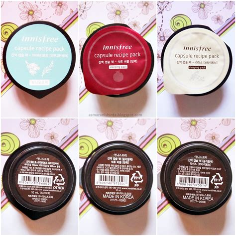 Harga Innisfree Capsule Recipe Pack Sleeping Pack Pomegranate every post has its own story review innisfree capsule