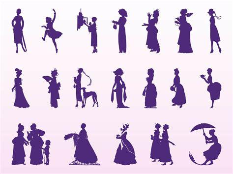 Different Types Of Kitchen Designs Vintage Women Silhouettes