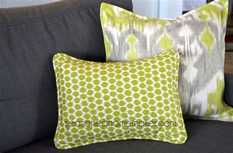 Sew Envelope Pillow by How To Add Piping To A Pillow