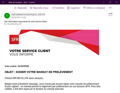 Espace Client Sfr Fr Informationsfr Sc Sfr Fr Site Frauduleux