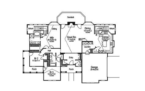 atrium ranch floor plans chrystelle atrium home plan 007d 0089 house plans and more