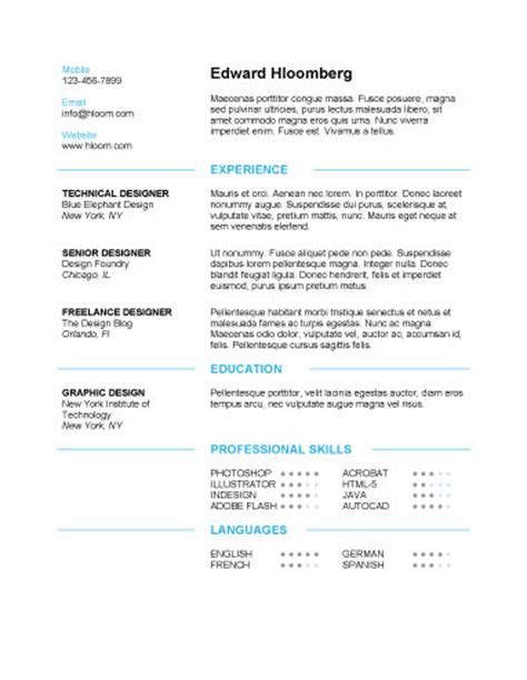 clean resume template learnhowtoloseweight net
