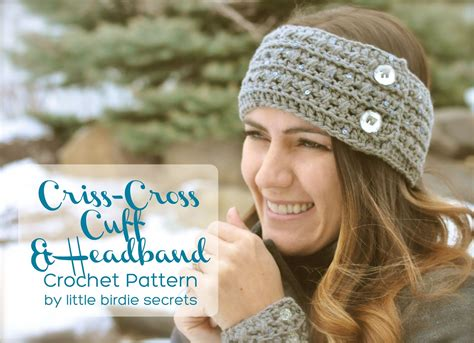 free pattern headband crochet free crochet headband and cuff pattern little birdie