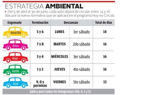 el doble no circula 2016 hoy no circula sabatino estado de mexico distrito federal