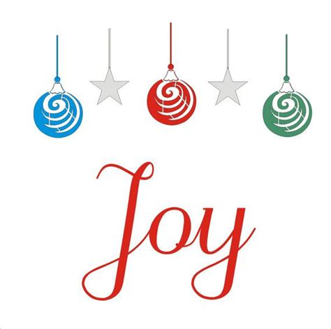 christmas stencil joy with ornaments 13 5x by