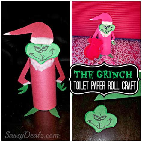 Chimney Paper Roll - the grinch toilet paper roll craft for