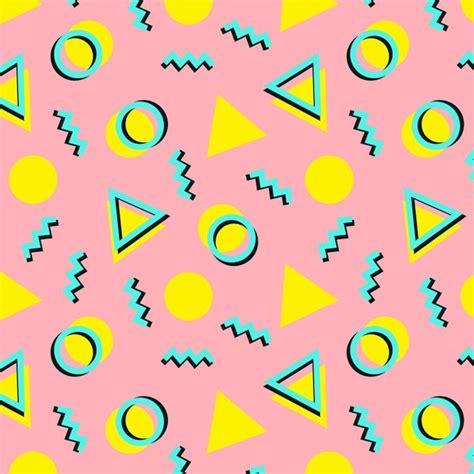 memphis pattern pink cute retro pattern