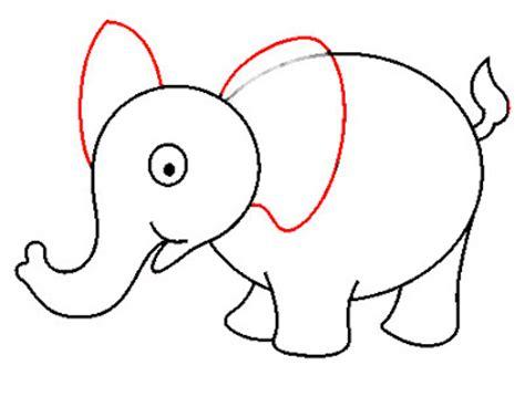 cara membuat gambar 3d hewan langkah menggambar gajah menggambar asik