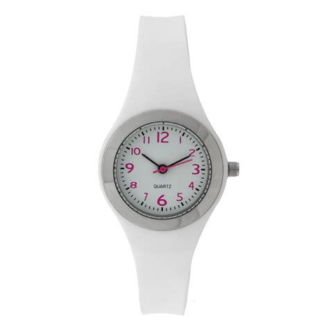 white rubber jewelry watches