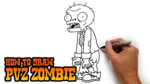 How to draw a zombie from plants vs zombies