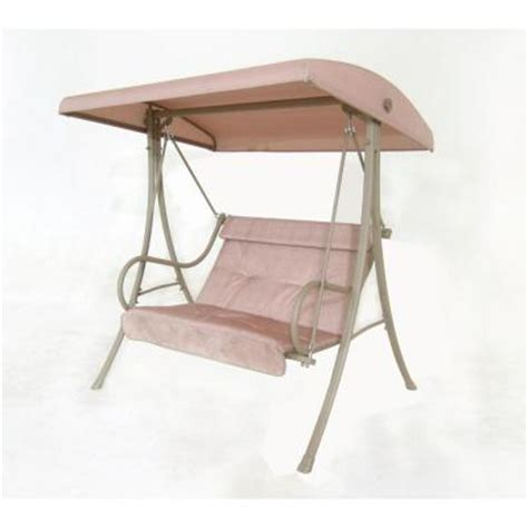 home depot patio swings hton bay 2 person patio swing s010114 the home depot