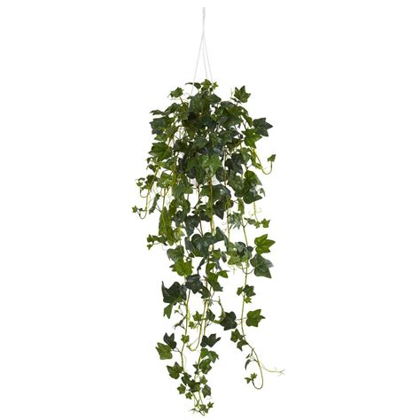 hanging plants nearly natural english ivy hanging basket artificial plant