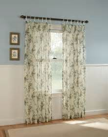 Sheer Curtain Panels Gardendale Floral Semi Sheer Curtain Panel Curtainworks