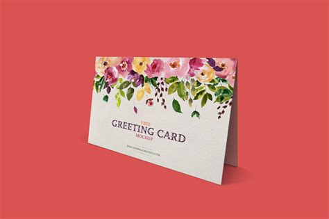 free photoshop templates for greeting cards free standing greeting card mockup psd template