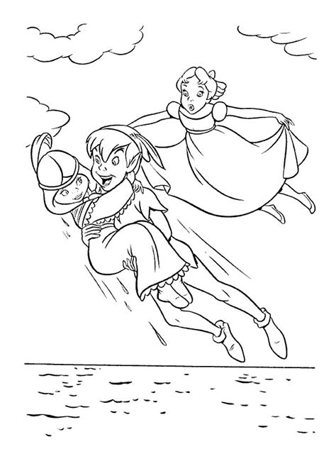 peterpan coloring pages coloringpages1001 com