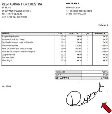 Modele Facture Restaurant