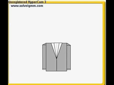 How To Make Paper Jacket - origami tuxedo a jacket