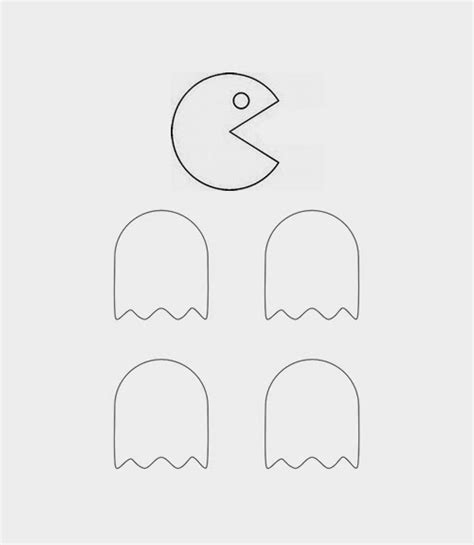 pacman template repeat crafter me pacman clothespins
