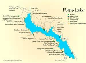 bass lake california map bass lake cing map