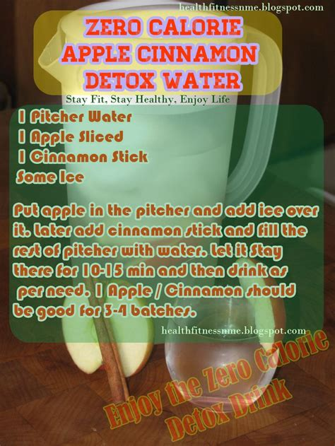 Apple Detox Cleanse Diet by Zero Calorie Apple Cinnamon Detox Water Health Detox