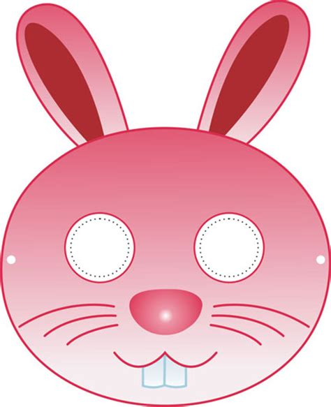 printable hare mask rabbit mask printable