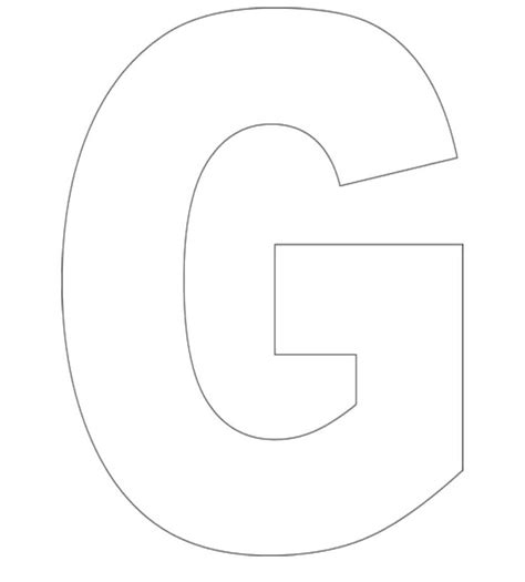 letter g template g template pictures to pin on pinsdaddy