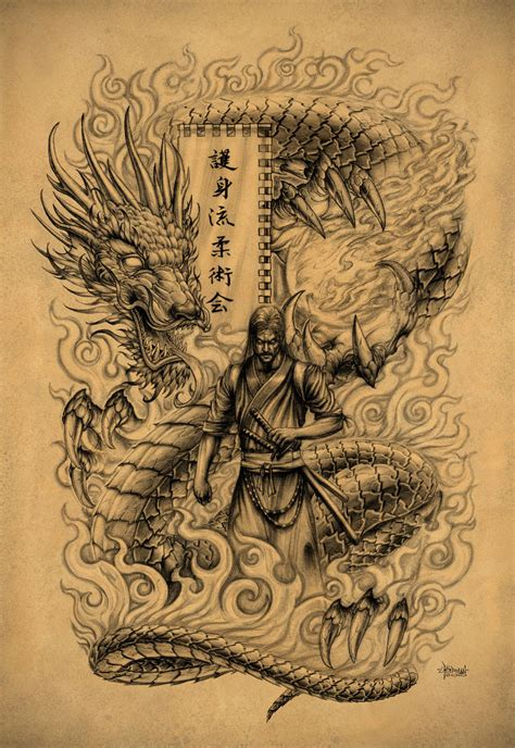 badass dragon tattoo designs samurai by loren86 wish i could draw