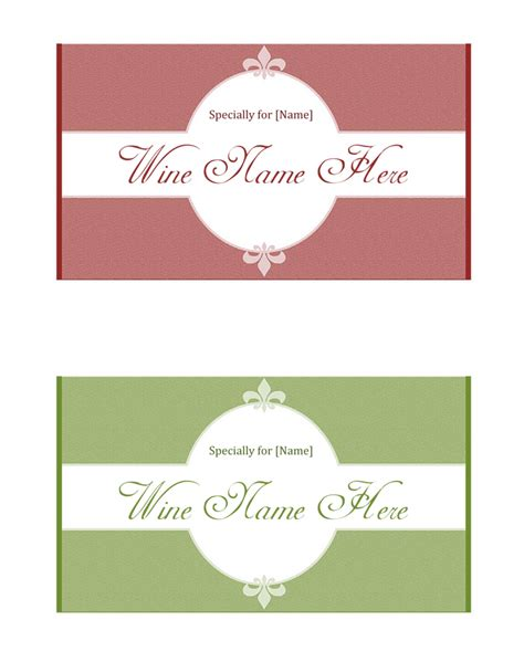 Diy Wine Labels Template Free