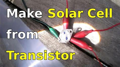 transistor jengkol sebagai solar cell how to make solar cells using transistors 2n3055
