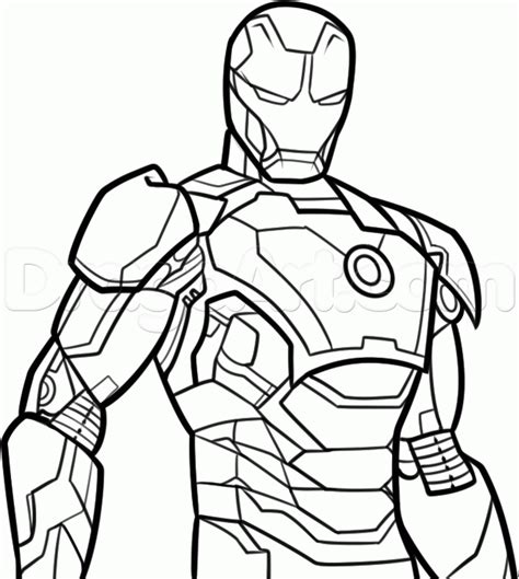 iron man coloring pages easy easy iron man drawing clipartxtras