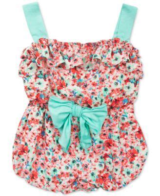 16 So Floral Turquoise Rompers editions baby coral floral print romper macys isn t she lovely