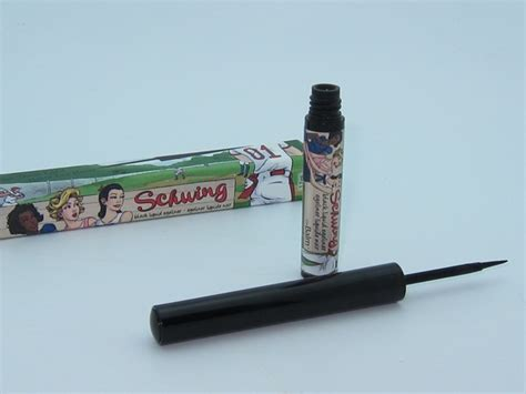 Eyeliner The Balm the balm schwing black liquid eyeliner review swatches